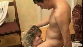 Mature woman - mouth fucked...