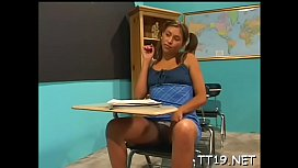 Sexy big ass schoolgirl gets her trimmed cunt fucked roughly