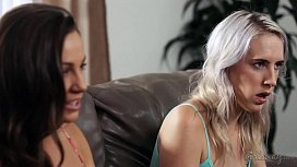 Squirting right to my mom'_s mature friend! - Abigail Mac, Cadence Lux