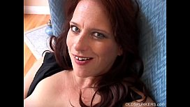 Super sexy MILF in stockings loves fucking her wet pussy