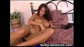 Busty amateur Wendy playing...