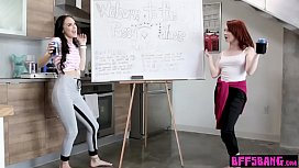 Teen BFFs first rule in the pussy palace is to fuck