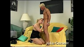 Blonde Assistent fucked...