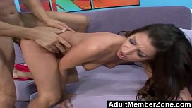 AdultMemberZone - Beautiful Babe Takes on a Monster Cock
