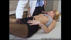 Nylon sexy receptionist fetish...