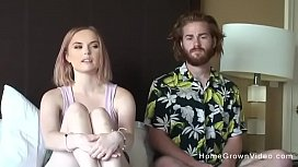 Real amateur couple couldnt wait to make a porno