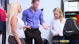 Two young hot blonds make this cock spit