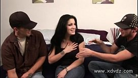 Horny Dudes Find Nice Happy MILF And Bring Her To Their Motel Room