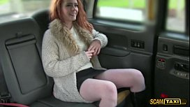 Scandalous redhead darling flashes...