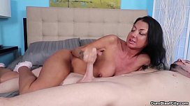Cumblast-Busty milf makes...