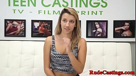 Real smalltit teen hardfucked at casting