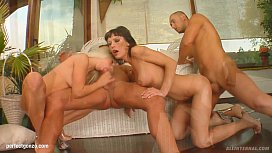 Messy creampie scene with...