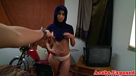 Busty arab amateur pounded...