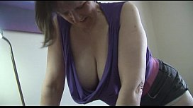 Busty hairy mature in...