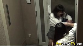 Japanese teens peeing