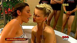 Sexy pee lovers Julie Skyhigh and Mia Bitch - 666Bukkake