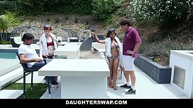 DaughterSwap - Sexy Teens Fuck Their Dads While On Vacation