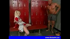Hot blond cheerleader fuck...