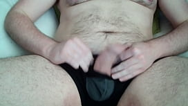 Big cock out of boxers