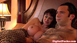 Hugetitted milf assfucked and...