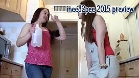 Ineed2pee girls peeing their pants & tight jeans 2015 xnxx image