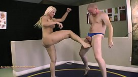 Leya falcon ballbusting audition...