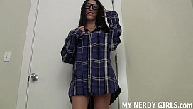 I know I look nerdy but I totally crave cock too JOI