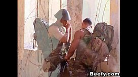 Beefy Military Gay Outdoor...