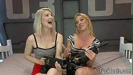 Blonde lesbians pussy fisting...