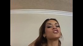 Sexy Latina girl gets throat, pussy pounded in the bedroom