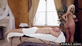 Incredible masseuse with big...