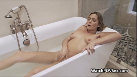Wet gf busted in...