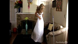 Sexy Housewife Practices Her...