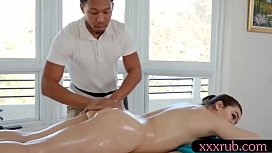 Sweet babe gets banged by black masseur