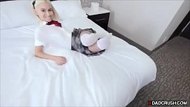 Blonde stepdaughters pussy will...