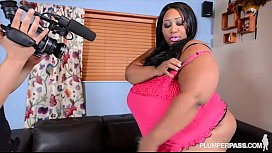 HugeTit Black BBW Cotton...