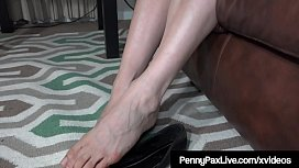 Footjob JOI With Redhead Penny Pax Showing Off Her Feet!