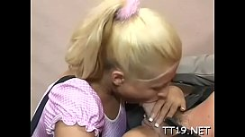 Luxurious teen blonde Cindy is fucked from behind