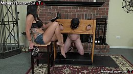 Mistress Tangent has slave at Her mercy