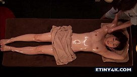 Hot oily massage with...