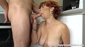 Sloppy cock sucking pensioner fucks