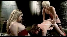 Submissive man gets flogged...