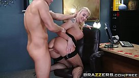 Brazzers - Big Tits at Work - Defiance in the Office scene starring Leya Falcon and Bill Bailey