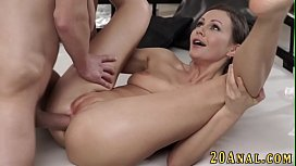 Ass licked babe spermed