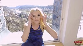 Footjob with a horny MILF in POV