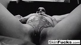BW ball-gag bedroom...
