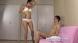 Amateur girl gives him...