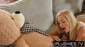 Blonde Model Sicilia And Kira Queen Sex With Teddy BearPart 1