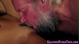 Teen fingered by old...