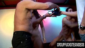 Group Fuck Site - Gorgeous Melissa Black Signs up for a Gangbang